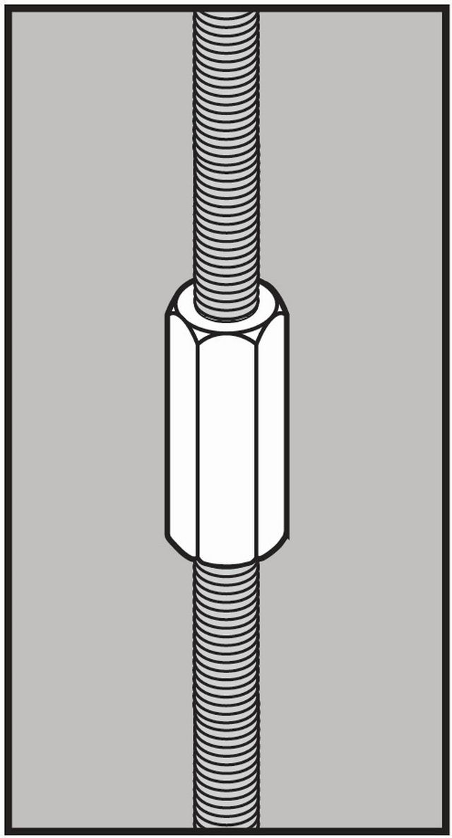 Stainless steel rod couplings on gibson