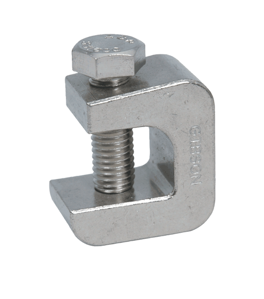 Series stainless steel beam clamps on gibson