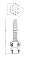 Cord Grip Connector with Strain Relief Mesh_Dimension