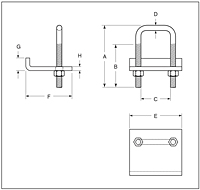 Right Angle Beam Clamp_Dimension