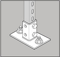 Standard Narrow Post Base_Application